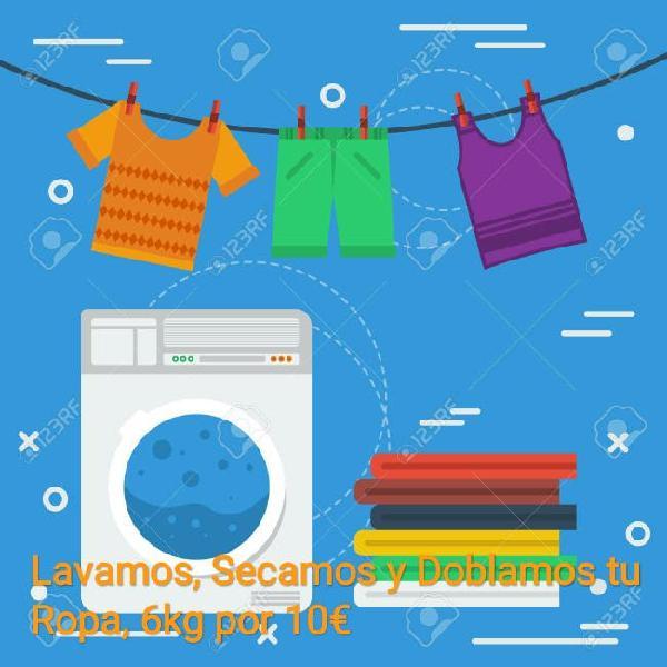 Servicio de lavado, secado y doblado de ropa