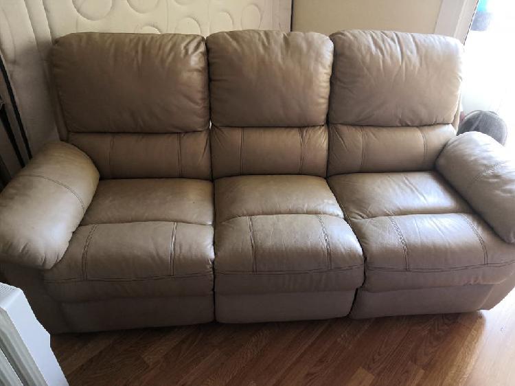 Sofá piel reclinable 3 plazas
