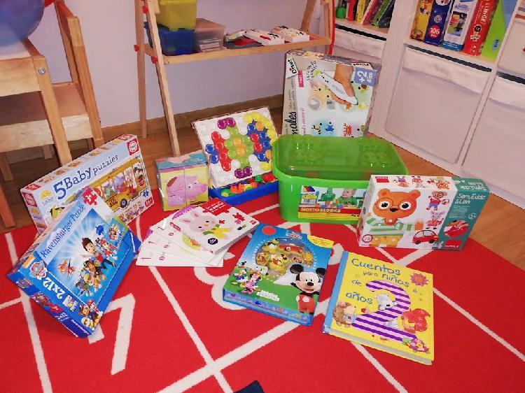 Super lote juguetes, puzzles y libros