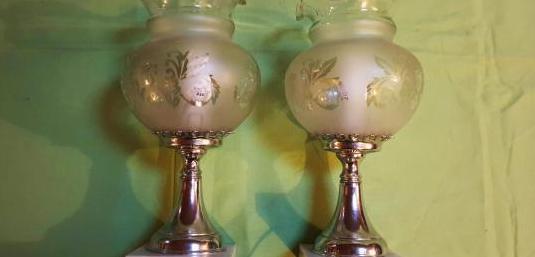 2 lámparas mesilla noche años 70