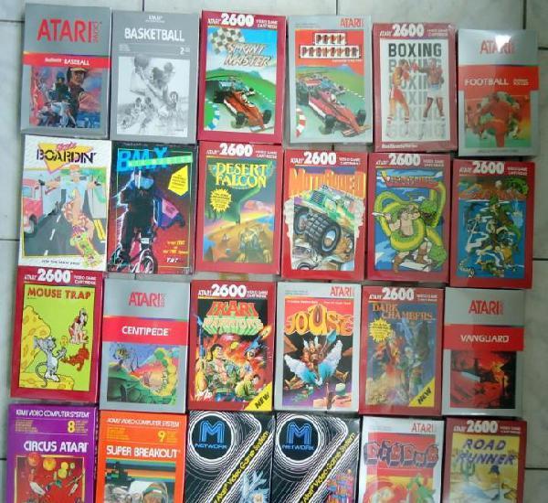 24 juegos atari 2600 diferentes sellados de fabrica con