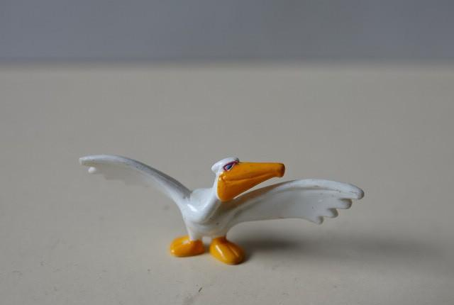 Iglo 98 1998 pelicano figura muñeco nº 5 pvc duro pintado
