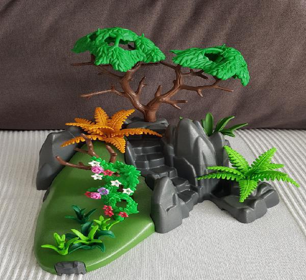 Isla con vegetación playmobil