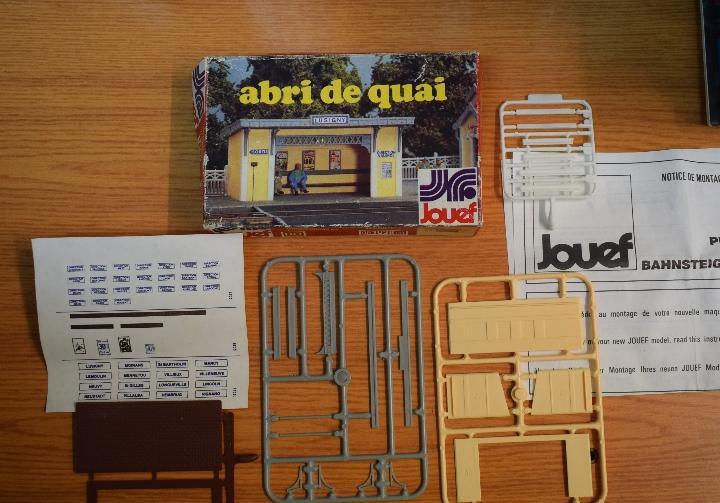 Jouef h0 kit para el montaje de un pequeño apeadero,