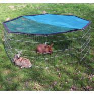 Kerbl recinto octogonal cerrado de exterior para mascotas