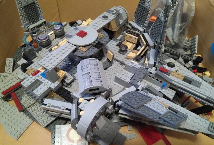 Lego star wars, despiece varias naves (halcón milenario y