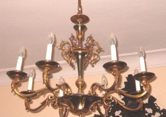 Lámparas techo de bronce, muy antiguas