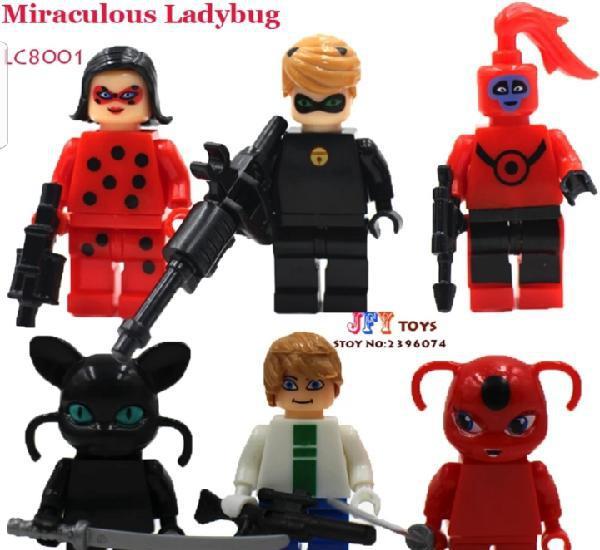 Lote minifiguras compatibles con lego lady bug nuevas en