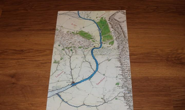 Mapa plano gondor minas tirith señor anillos juego rol merp