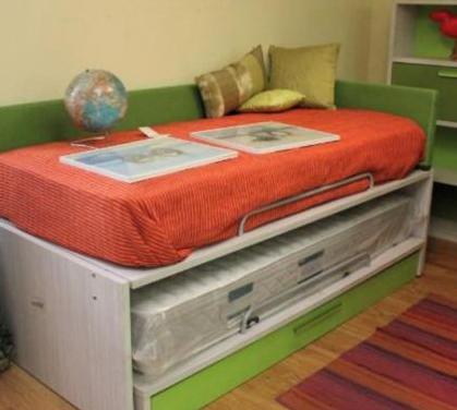 Nuevo - dormitorio juvenil doble, 4 piezas