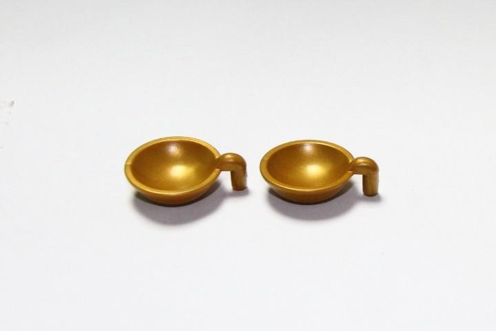 Playmobil medieval platos dorados menaje de cocina