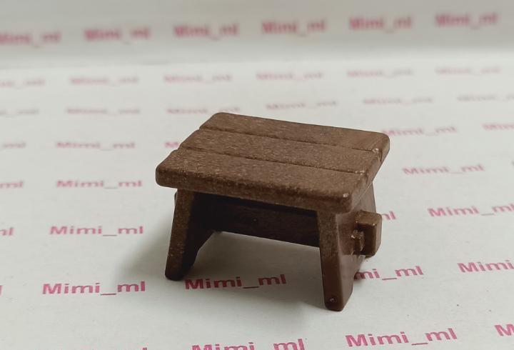 Playmobil asiento madera taburete taberna medieval western
