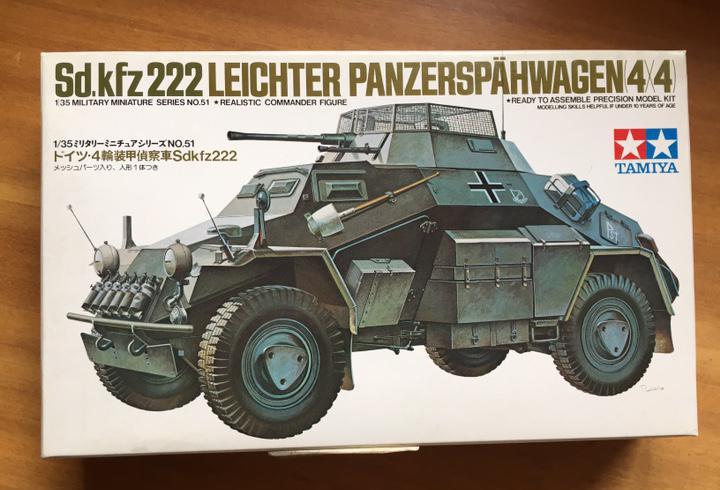 Sd.kfz. 222 leichter 1:35 tamiya 35051 maqueta carro tanque