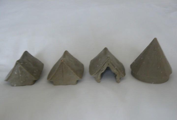 28mm redoubt miniatures 4 tiendas en resina (acw, awi,