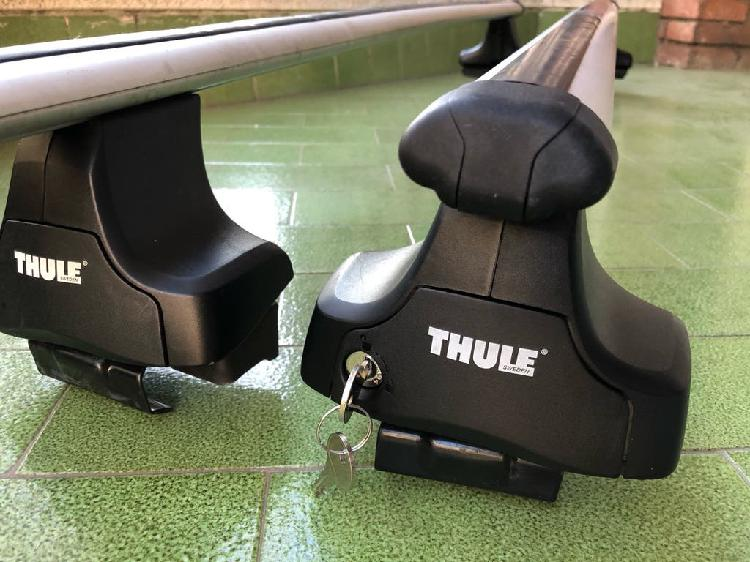 Barras thule aluminio + soportes a4