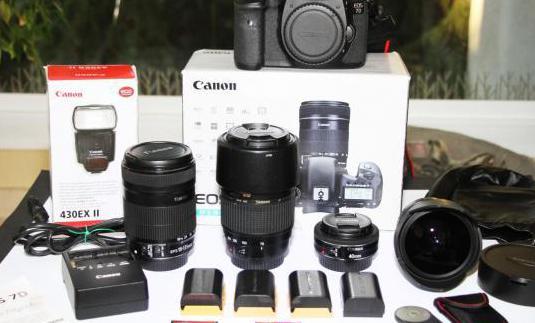 Canon 7d 4 objetivos y kit único