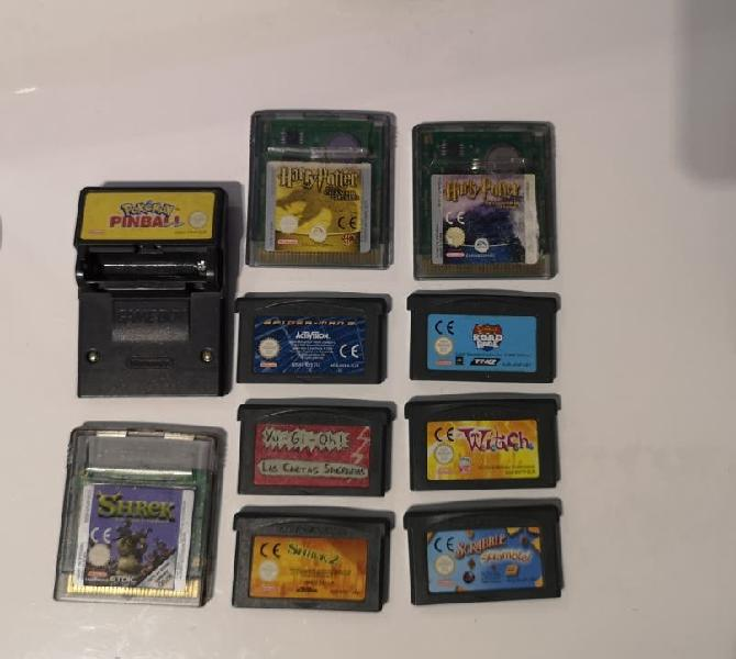Juegos game boy color advance pokemon/shrek/harryp