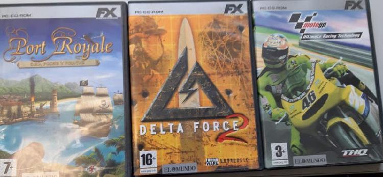 Juegos para PC en CD-ROM, X-BOX, y PLAY STATION