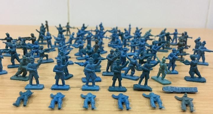 Lote de 99 soldaditos alemanes - grupo de combate alemania