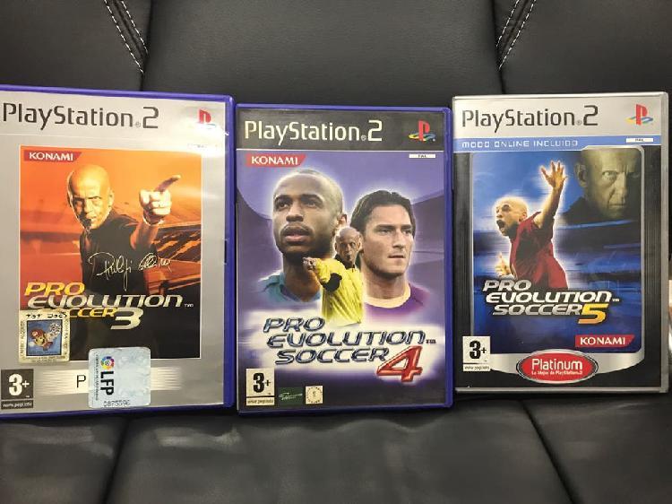 Lote playstation 2 ps2 juegos pes 3, 4 y 5