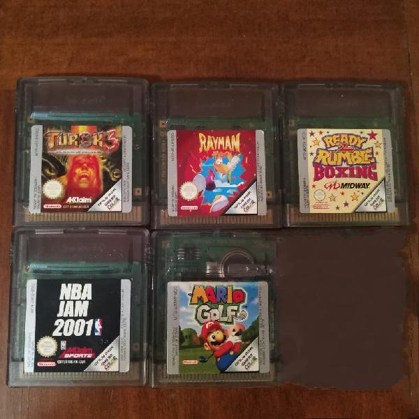 Lote juegos game boy color