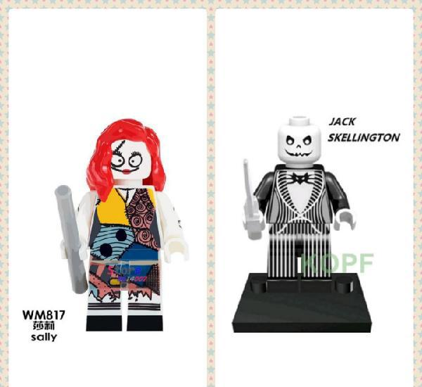 Lote minifiguras compatibles con lego pesadilla antes de