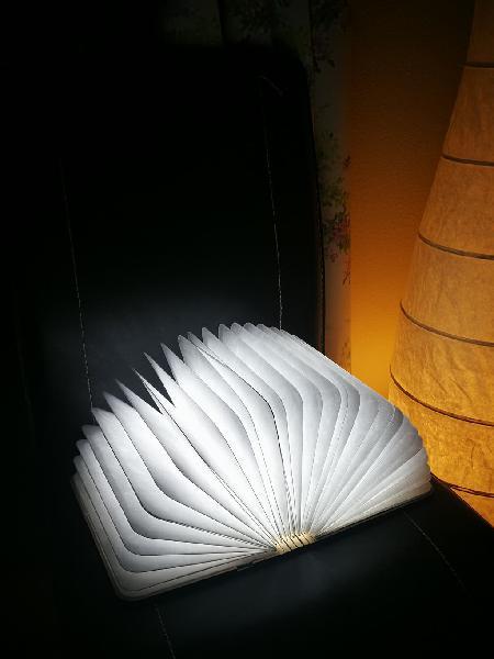 Luz nocturna - libro mágico plegable de madera