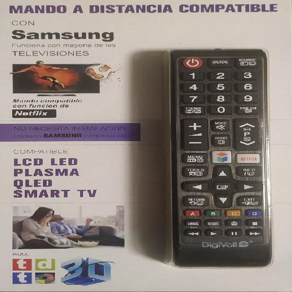 Mando tv samsung con tecla netflix- compatible