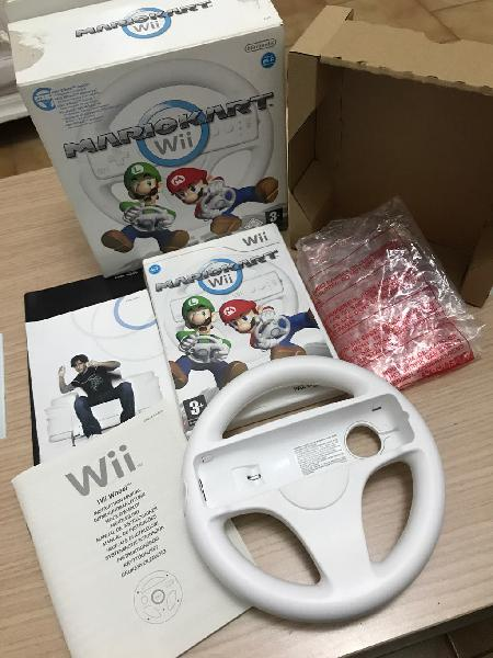 Mario kart + volante - nintendo wii - completo