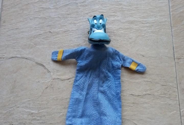 Marioneta de mano genio aladdin. hand puppet genie. disney