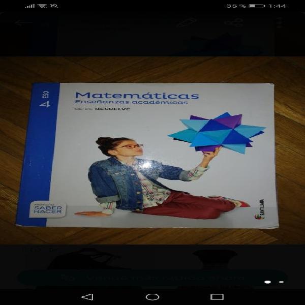 Matemáticas Académicas 4 Eso En España Clasf Imagen Libros Y Sonido