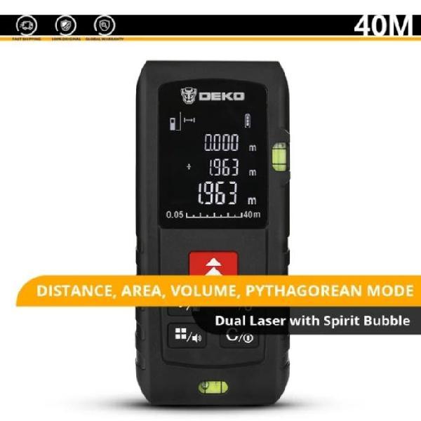 Medidor de distancia con láser hasta 40m. permite