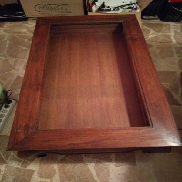 Mesa de madera maciza estilo rustico