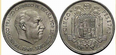 Moneda de plata (francisco franco)