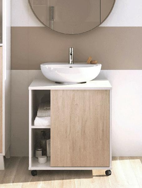Mueble baño lavabo pedestal saina lavamanos pie bl
