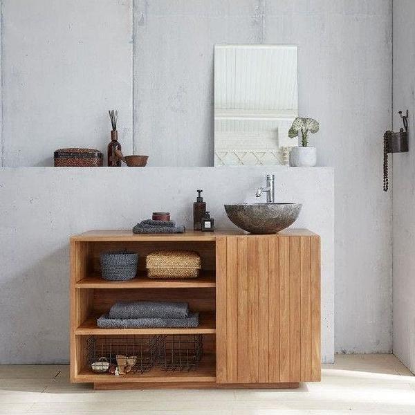 Mueble de baño nuevo madera maciza hecho a mano