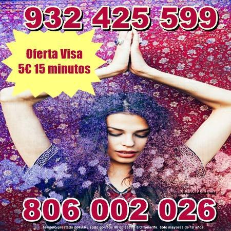 Oferta tarot por visa desde 5 euros 15 min. tarot 806