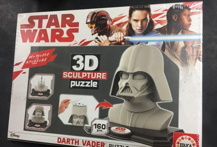 Puzzle 3d sculpture star wars darth vader 160 piezas