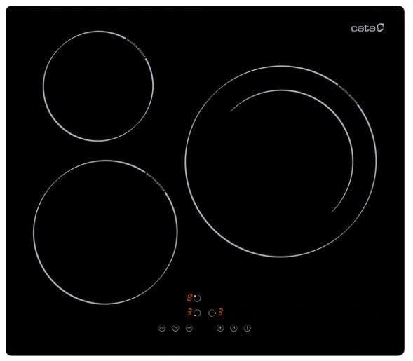 Placa de cocina cata tres zonas de coción