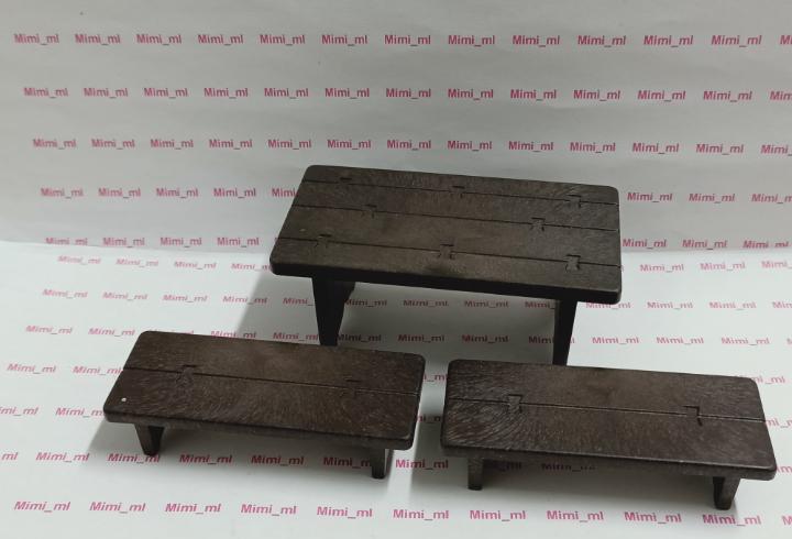 Playmobil mesa y bancos festín medieval castillo taberna