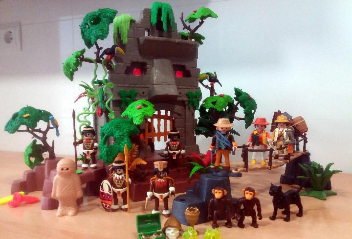 Playmobil referencia 3015 jungla templo ruinas + extras