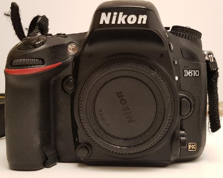 Se vende cámara nikon d610 con objetivos, flash