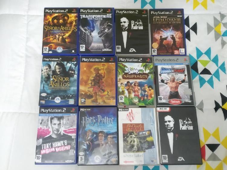 Se vende lote de juegos de ps1, ps2 y pc.