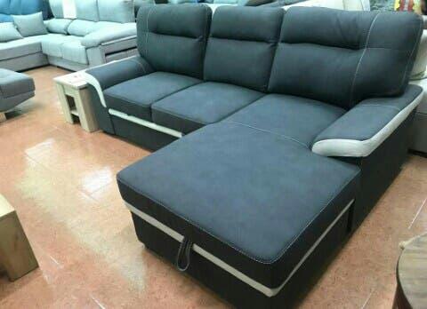 Sofá cama chaise longue con arcón (farrar)