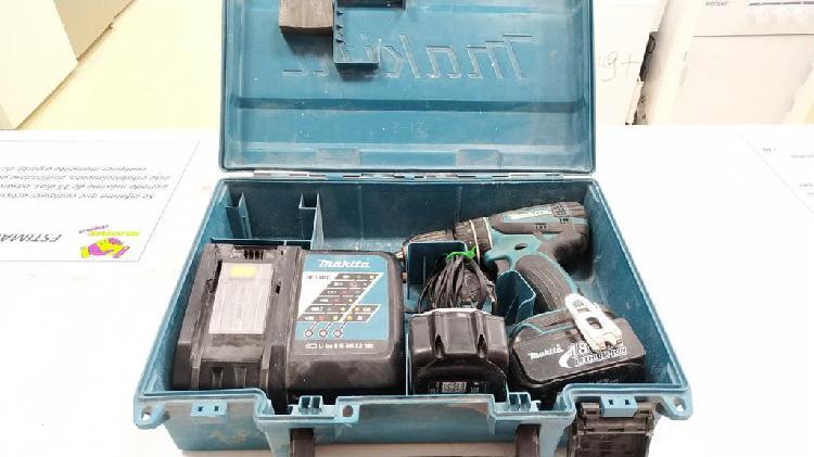 Taladro percutor makita + 2 baterias + maletin pvc