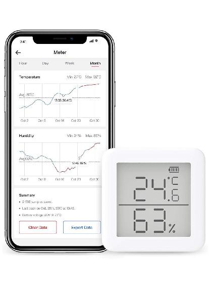 Termómetro higrómetro alexa, iphone, android