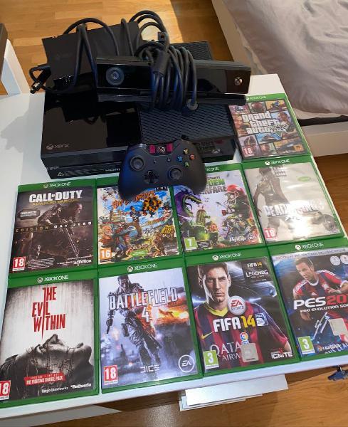 Xbox one 500gb, mando y 9 juegos
