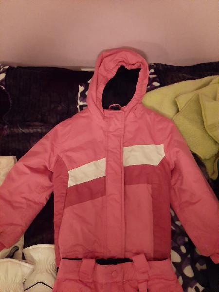 Pantalon y chaqueta de nieve para niña