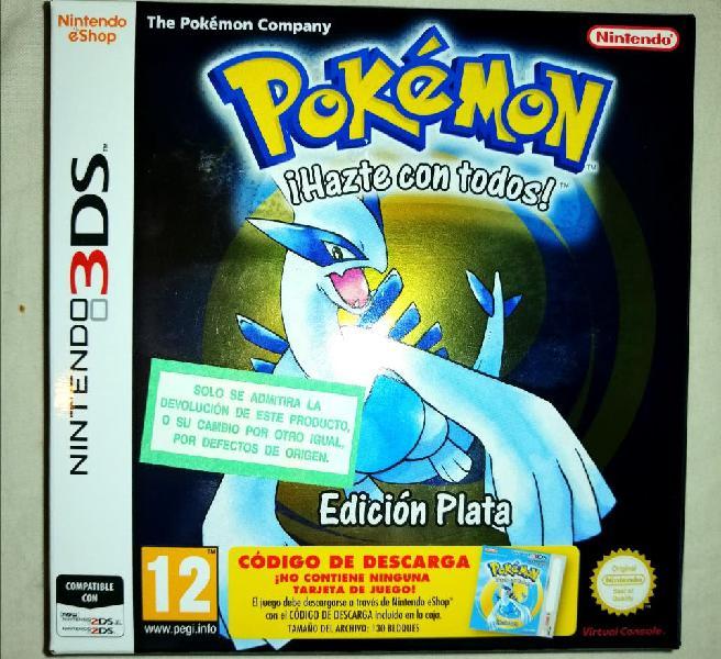 Pokemon edición plata nuevo nintendo 3ds código