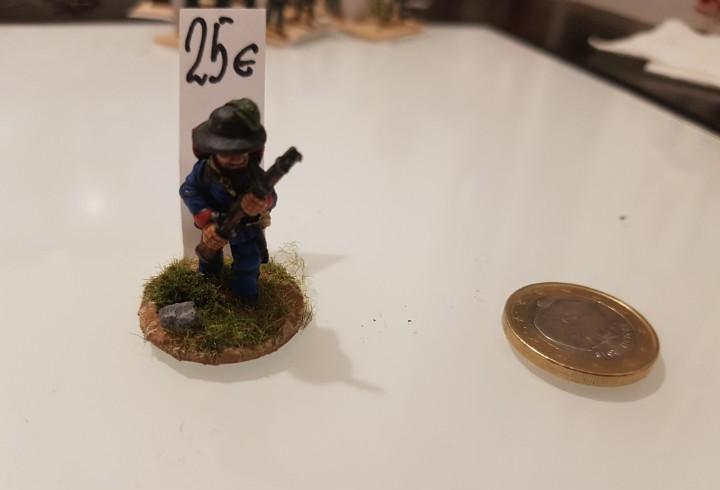 Soldado plomo confederado 35mm